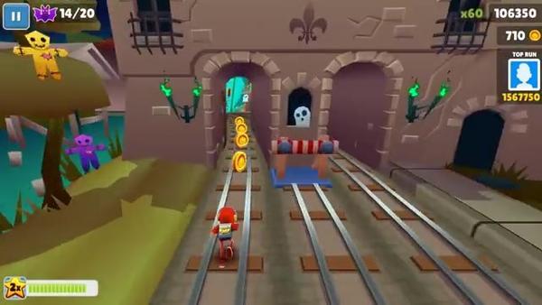 地铁跑酷新奥尔良版游戏演示视频欣赏