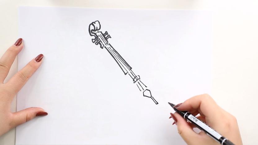 小提琴简笔画画法