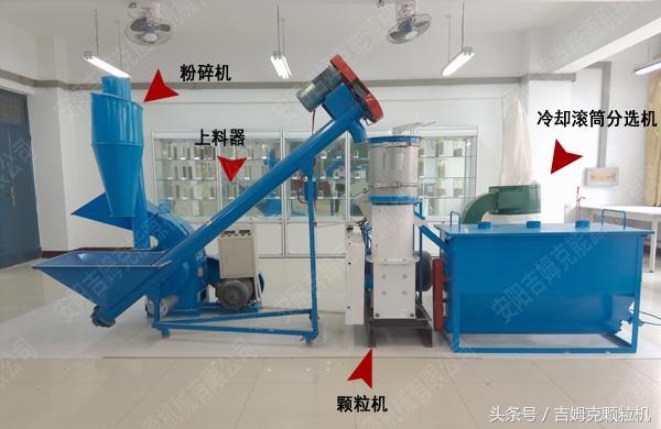 农药颗粒机拌土的照片