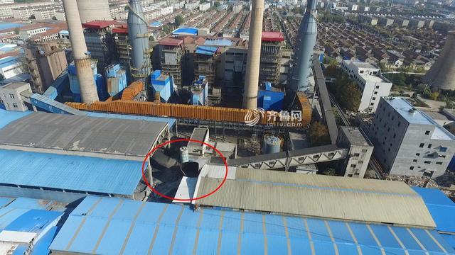 航拍:淄博一热电厂爆炸致5人死亡