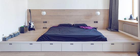 什么叫地台床?时尚新颖的它成为了卧室的灵魂!_腾讯家居