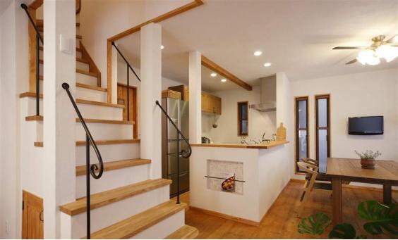 木质楼梯扶手效果图