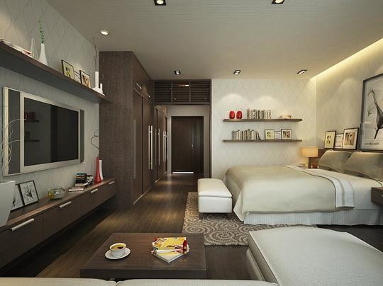 卧室电视墙效果图