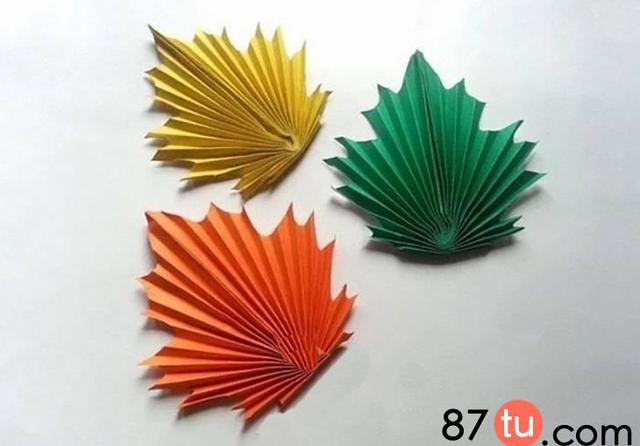枫叶折纸图解_巧巧手幼儿手工网
