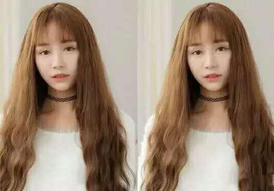 人气女生玉米烫长发发型 可爱气质挡不住_女生发型_发型屋