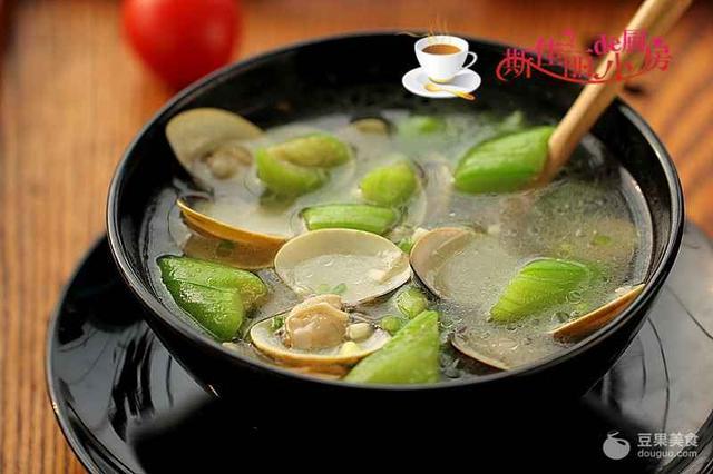 超级鲜美、营养丰富的蛤蜊丝瓜汤这样做出来真的太好喝了
