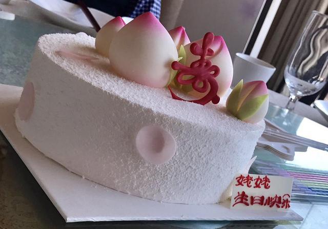 壽桃,蛋糕,壽桃蛋糕