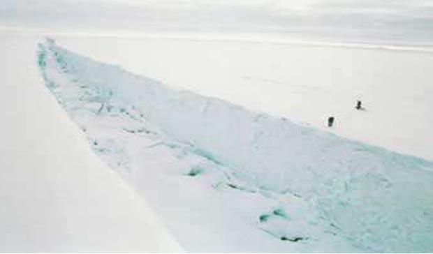 南极冰川惊现巨大裂缝 美航天局调查_新闻中心_中国网