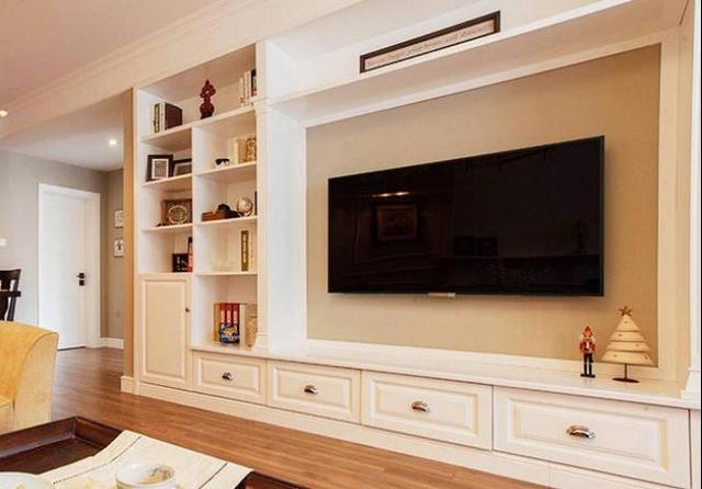 电视墙装饰置物架