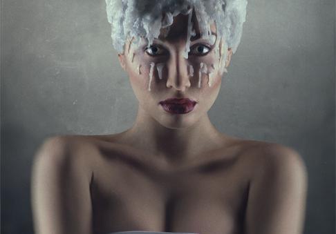 夸张的创意烟熏妆容,如果你是化妆师,请记得收藏一... -风行网