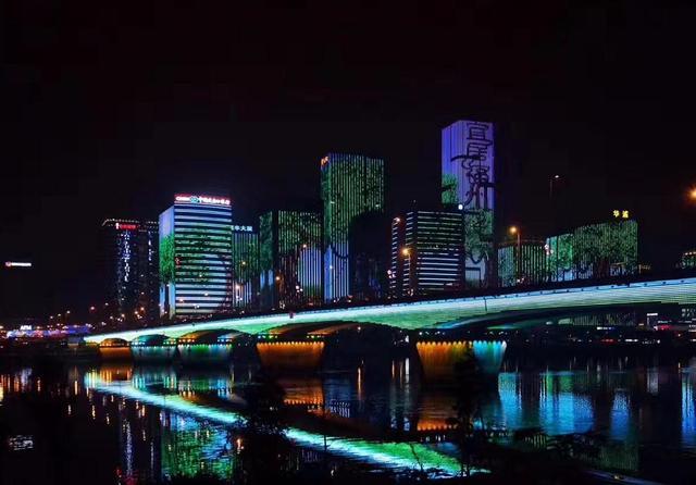 福州江滨夜景,都市风光,建筑摄影,摄影,汇图网www.huitu.com