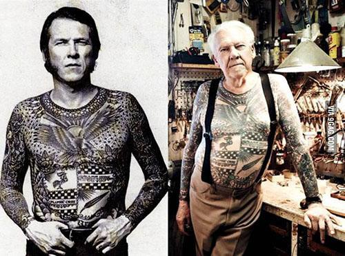 这些图告诉轻时候的纹身老了会变成什么样?