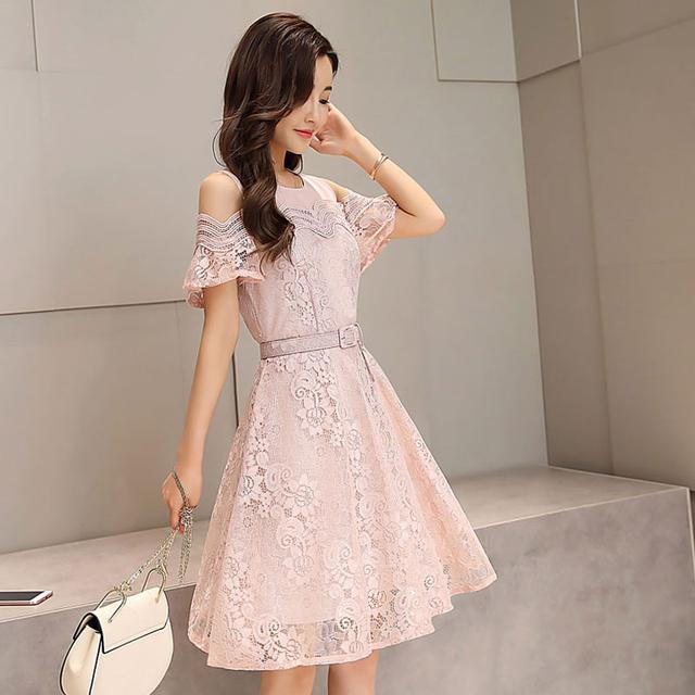 棉麻連衣裙搭配圖片