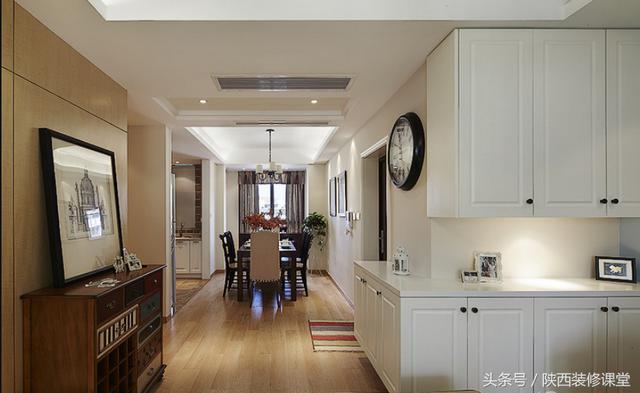 130㎡三室两厅两卫装修图!超漂亮的美式风格装修... _手机房天下