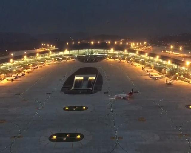江北机场t3航站楼室内图片