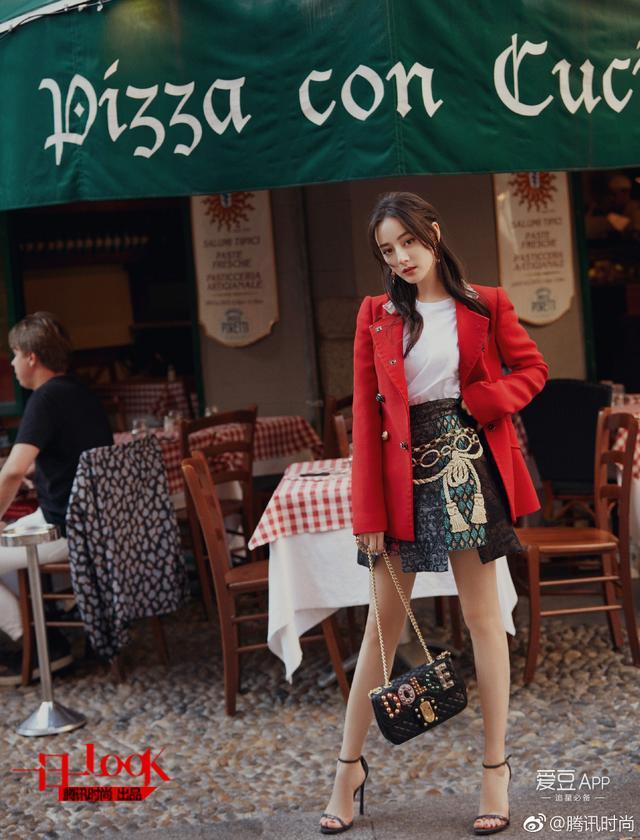171101 热巴游走米兰街头大片公开 享受浪漫下午茶的美好时光