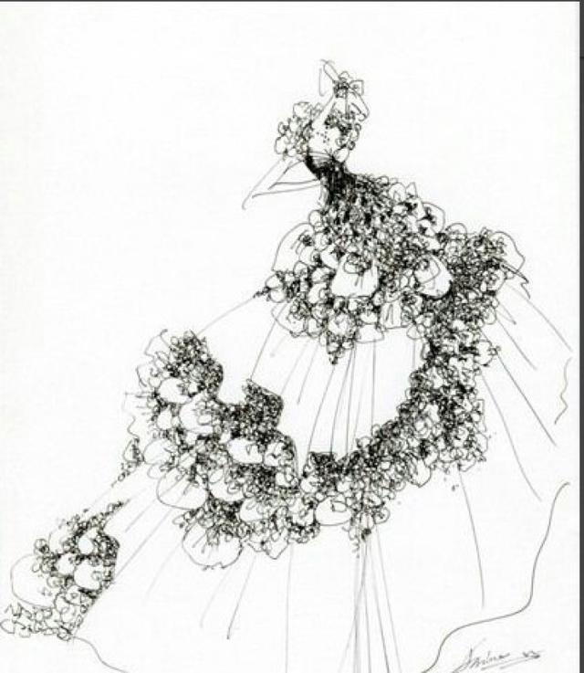 婚纱手绘素描设计图片大全(2)_学识网