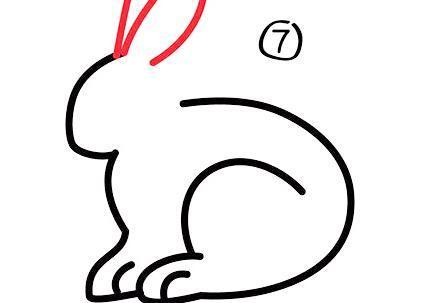 每天学一幅简笔画-可爱的小兔子简笔画画法步骤教程及图片大全
