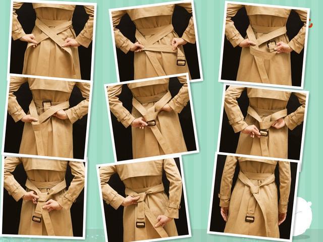 手把手教你,风衣腰带的系法,简单又时尚