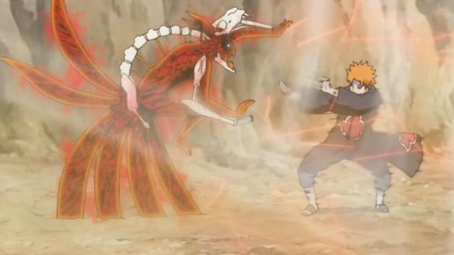 仙人模式鸣人VS六道佩恩!(一)