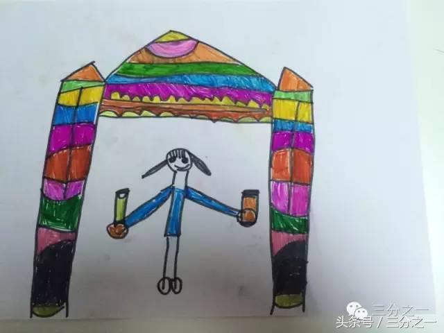 """太有爱!青岛5岁女孩画画鼓励爸爸战""""疫"""""""