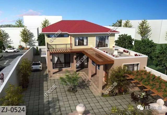 6款农村盖一层平房的设计图,10万元就能建起来_盖... _图纸之家