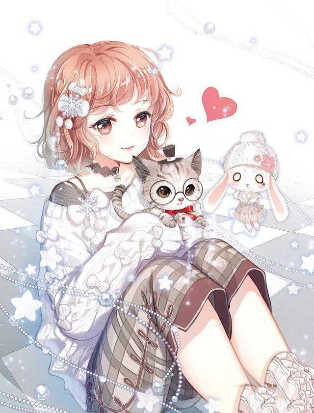 孤独女生动漫图片唯美图片,十二星座日系动漫美少女,孤独的巨蟹座,迷人的天秤座