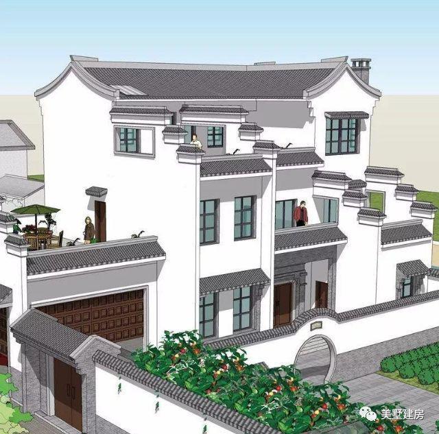 2套徽式风格自建别墅图纸设计,打造最美徽派农村自建房别墅!