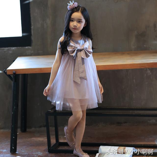 编织一款可爱的小女孩儿童公主裙,附图解