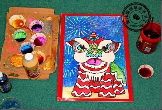 狮子卡纸手工制作图片
