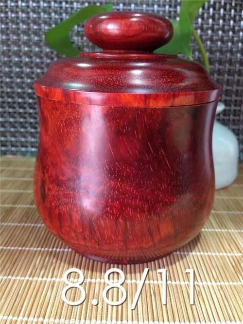 小叶紫檀--保温茶叶罐