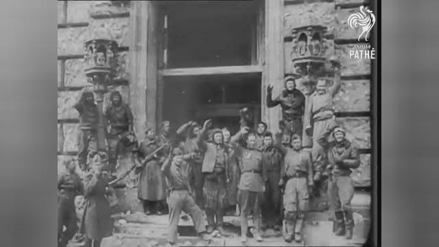 二战苏军攻入柏林地铁站