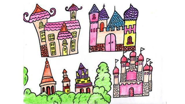 神奇!用数字444画一座城堡,太厉害了!超简单简笔画