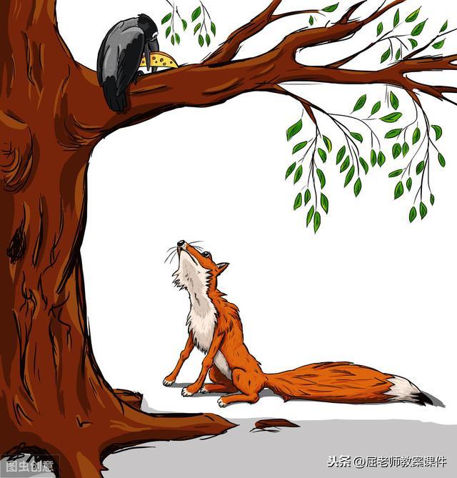 狐狸与乌鸦简笔画
