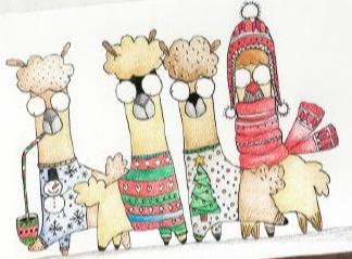 彩铅卡通动物画