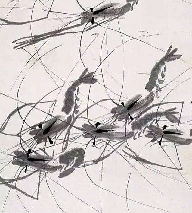 鱼虾蟹国画写意