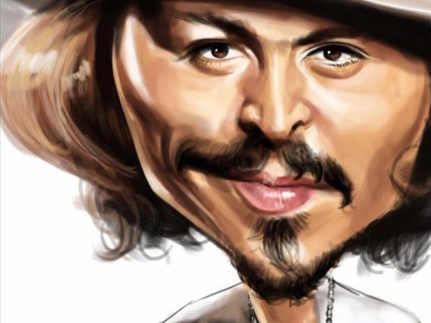 名人漫画肖像夸张画法