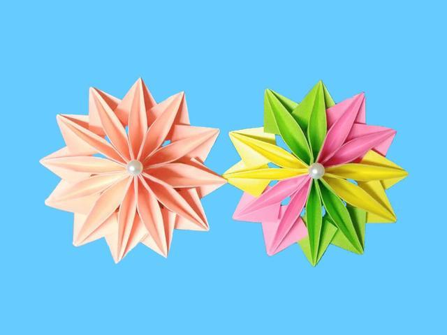 非常漂亮的折纸花朵,做法原来这么简单,手工DIY折纸图解教程
