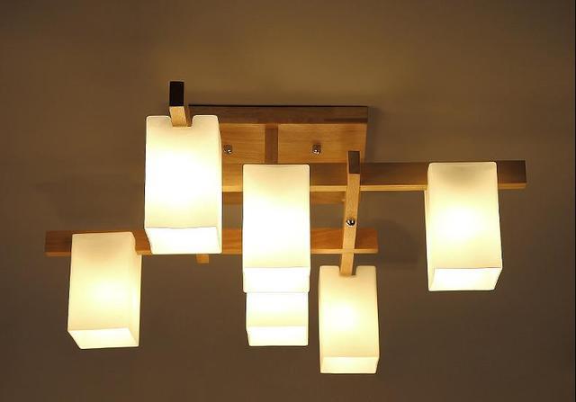 创意实木吸顶灯简约北欧客厅原木书房卧室灯阳台过道灯日式灯