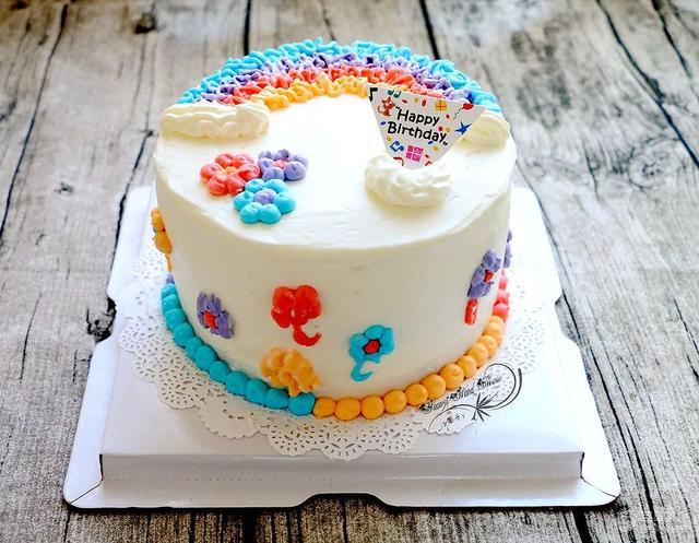 簡易生日蛋糕的做法