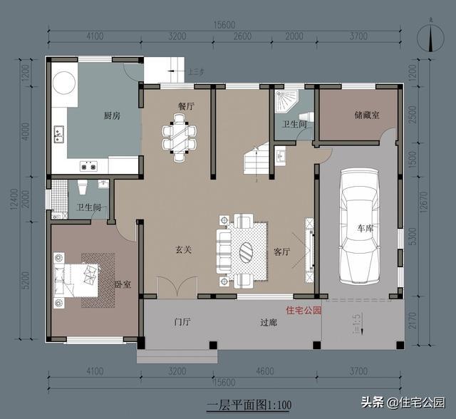 为父母自建养老房,15X12米田园风,住进去就不想搬出来了