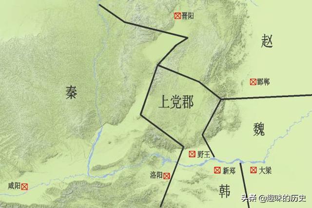 长平之战今天地图