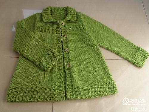 漂亮的女童秋季开衫编织,洋气又优雅,附详细教程