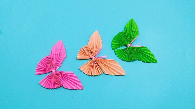 如何手工折纸立体蝴蝶 立体蝴蝶的折法动态图_手工帝网
