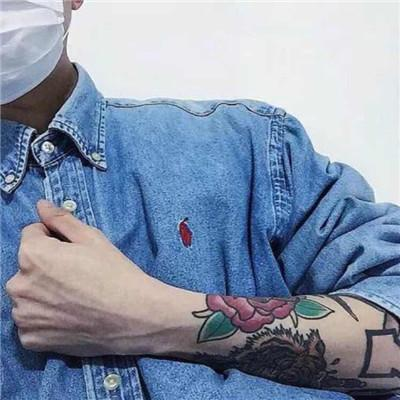 qq霸气纹身头像男生社会人,超拽轻狂把气质养起来-非主流头像
