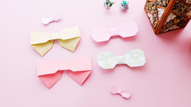 彩带蝴蝶结的漂亮折法图解_瑞文网