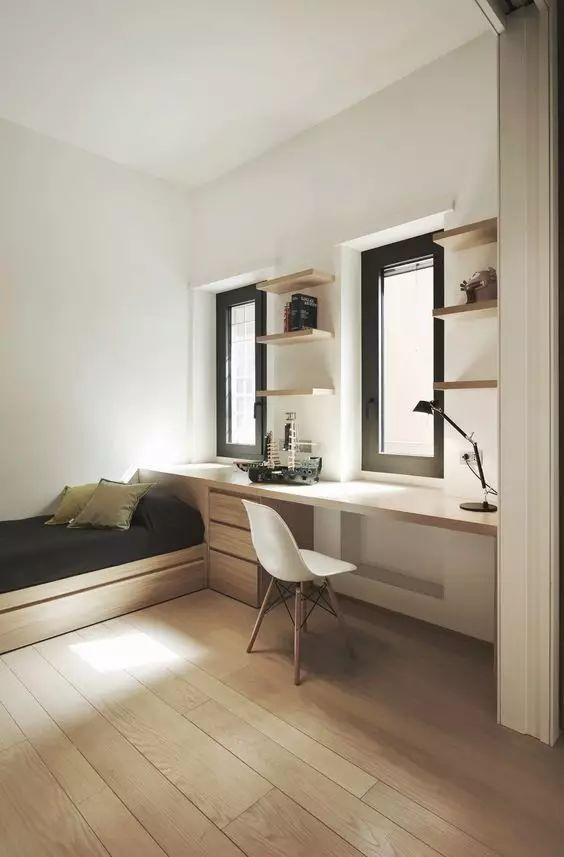 打造一个榻榻米书房,小户型这样做超省空间,太实用了