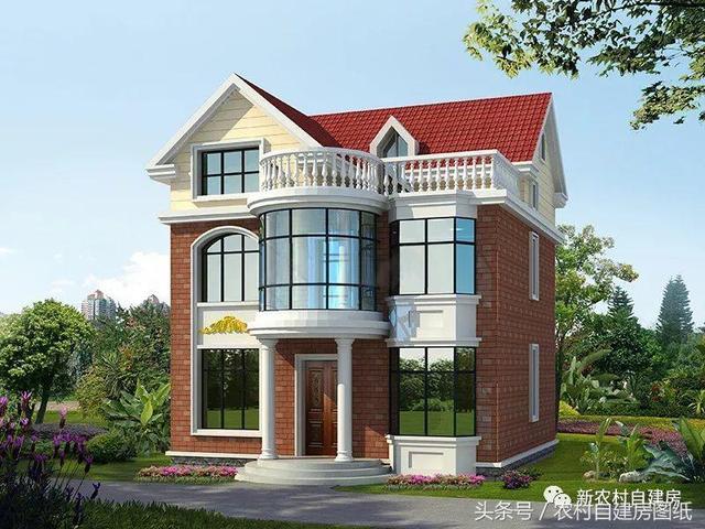 建房迷自建房80平米经济型小户型三层轻钢结构别墅图... _建房迷