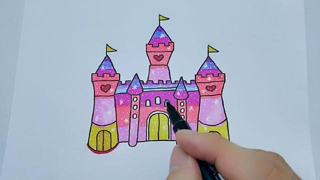 哄孩子小技能:童话小城堡简笔画,为萌娃收藏吧