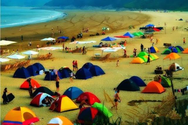 海边露营—野餐,赶海